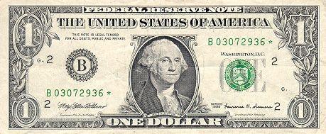 Fotografía - ¿Por qué algunos EE.UU. Bills tienen una estrella en lugar de una letra al final del número de serie?