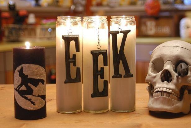 Spooky velas de Halloween